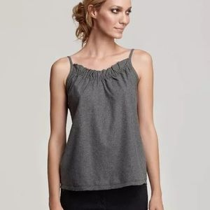 NWT Eileen Fisher Flannel Gray Tank Top XL $118